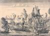 Сражение у мыса Гангут 27 июля 1714 года. Россия, 1715 г. Гравер: Зубов А.Ф. 1682/1683-1751