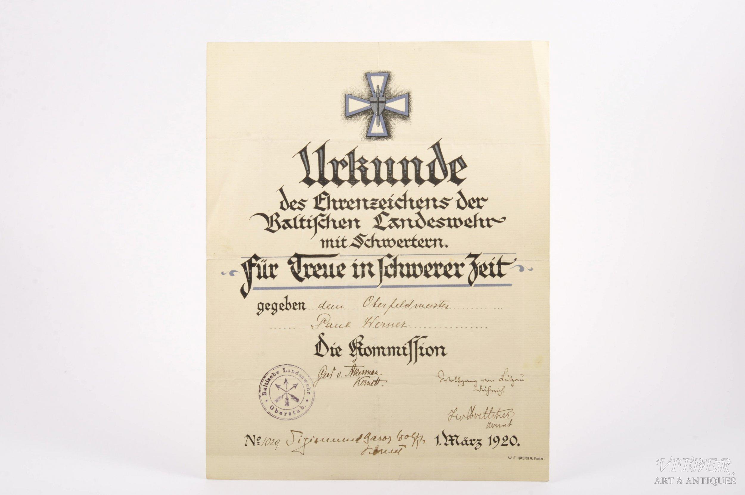 Картинки по запросу Вольфганг Акунов. Крест Охраны прибалтийского края