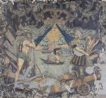 Знамя ротное Лейб-Гвардии Преображенского полка. Россия, 1700 г. Камка, шитье, роспись. 290х300 см.