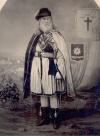 """Один из основателей Ку-Клукс-Клана, генерал Альберт Пайк, в масонско-""""тамплиерском"""" облачении 33-го градуса."""