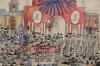 Митинг у Красных ворот. Неизвестный автор. Москва. 1917 г. Бумага, графитный карандаш, акварель, тушь, перо