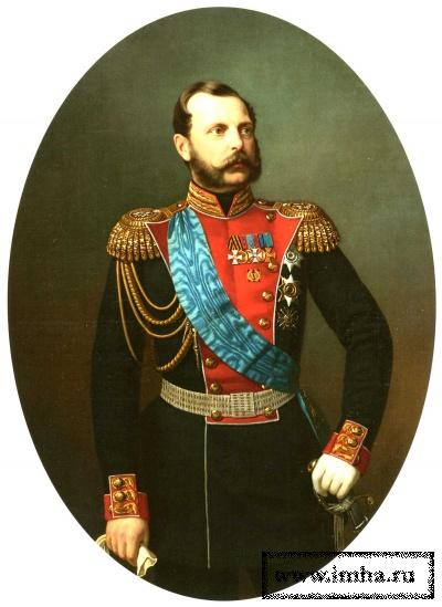 Портрет Императора Александра II в мундире Лейб-Гвардии Преображенского полка. И.А. Тюрин. Вторая половина 1860-х гг.