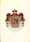 Герб князей Репниных (Общий Российский Гербовник, часть I, № 6); щит разделен горизонтально на две неравные частя, и верхняя, большая часть разделена перпендикулярно на две половины. В правой, верхней половине, в красном поле, герб Великого Княжения Киевского: ангел в одежде сребротканной, держащий в правой руке серебряный меч, а в левой золотой щит. В левой половине, герб Княжения Черниговского, в золотом поле, черный одноглавый орел, с распростертыми крыльями, держит в левой лапе больший золотый крест. В нижней части герба, в серебряном поле, две птицы, из коих каждая держит во рту стрелу, а в лапе золотый шар. Щит покрыт княжескою мантией и российско-княжескою шапкой.
