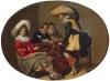 Офицеры, играющие в трик-трак. Дейстер, Виллем Корнелис. 1599-1635. Голландия, Около 1630 г., дерево, масло, 31,5x42,5 см. ГЭ