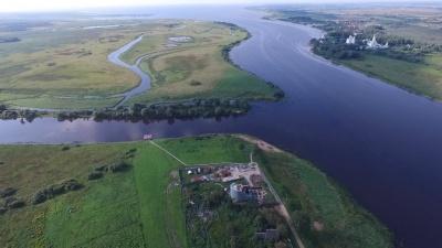 Общий вид церкви Благовещения на Городище в Новгороде