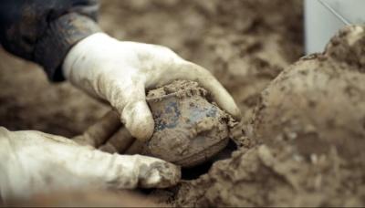 Одна из находок на римском кладбище возле деревни Беммель. Кадр из видео Rijkswaterstaat / Vimeo