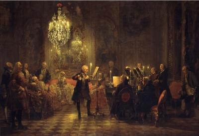 Флейт-концерт Фредерика Великого в Сан-Суси. Адольф Мензель