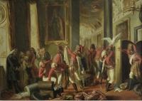 Гусары Зейдлица из Зеленого полка мародерствуют в замке Готы. 1852