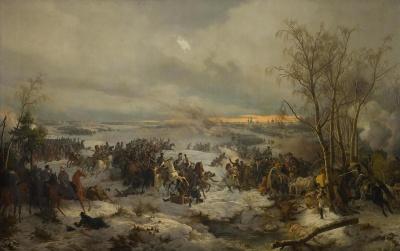 Бой под Красным 5 (17) ноября 1812 г. Германия, 1849 г. Хесс (Гесс), Петер фон. 1792-1871.