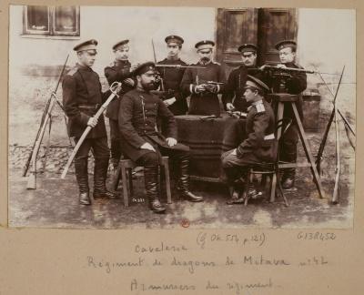Офицеры Митавского драгунского полка. 1892 г.