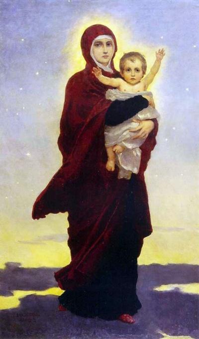 Образ Божией Матери Благодатное Небо работы В М Васнецова