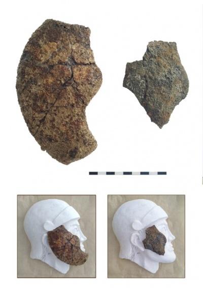 Находки нащечников от предположительно псевдоаттических шлемов.