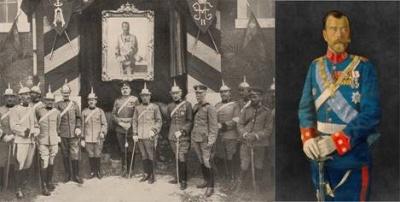 25 мая 1914. Портрет русского народа царя в мундире Фарнезского полковника был доставлен в Вальядолид