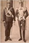 Испанский король Альфонсо XIII в форме полковника Ольвиопольского полка и Великий Князь Борис Владимирович Романов