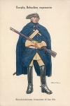 Riks?nkedrottningens полк легкой кавалерии. Командир полка Einar von Strokirch. 1718.