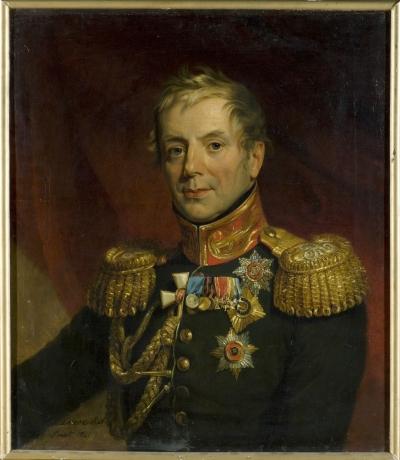 Портрет Петра Петровича Коновницына 1821 г.. Доу, Джордж. 1781-1829. Холст, масло, 73х62,5 см. ГЭ.