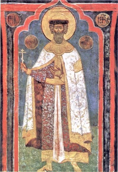 Великий князь Александр Невский. Фреска XVI в.