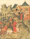 Возвращение кн. Александра с победой после битвы на р. Неве. Миниатюра