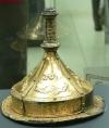 Умбон парадного щита вандальского князя, покрытый позолоченной серебряной фольгой с изображениями священных животных