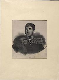 Генерал-майор Гавриил Амвросиевич Луковкин. Худ. Клюквин. XIX в. Бумага, литография. 29х20,5 см. ГИМ