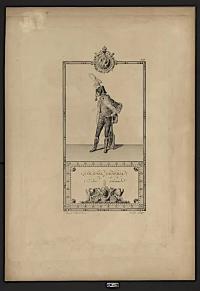 Французский гусарский генерал-полковник. Западная Европа, Франция, г. Париж. 1804 г. Isabey Jean Baptiste (1767-1855), автор оригинала, Percier Charles (1764-1838), автор оригинала, Pauquet, гравер. Бумага, гравюра. 70,2х49 см. ГИМ