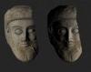 3D-модель античной терракотовой головы