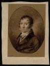 Князь Григорий Иванович Гагарин. Боссе, Эрнст-Готтлиф (?). Около 1816 г. Веленевая бумага коричневая, черный мел, мел. 29х22,5 см. ГЭ