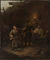 На Севастопольских бастионах, неизвестный живописец. 1850-1860 гг. Холст, масло, 56 x 47.  Национальный музей в Варшаве