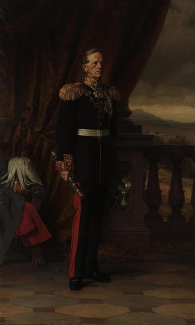 Портрет генерал-фельдмаршала Мольтке Германия, 1874 г. Вернер, Антон Александр фон. 1843-1915. Холст, масло, 267х162,5 см. Зимний дворец, потом Эрмитаж